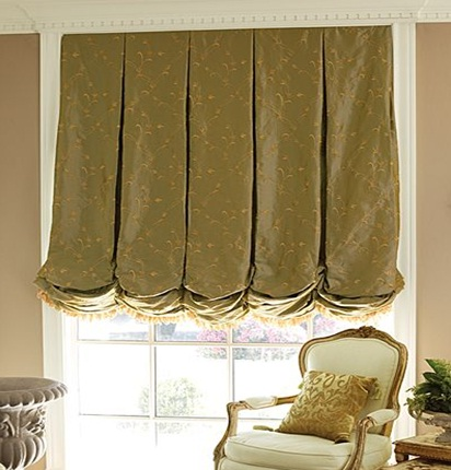 Balloon shades are a dramatic choice that can make any window the ...