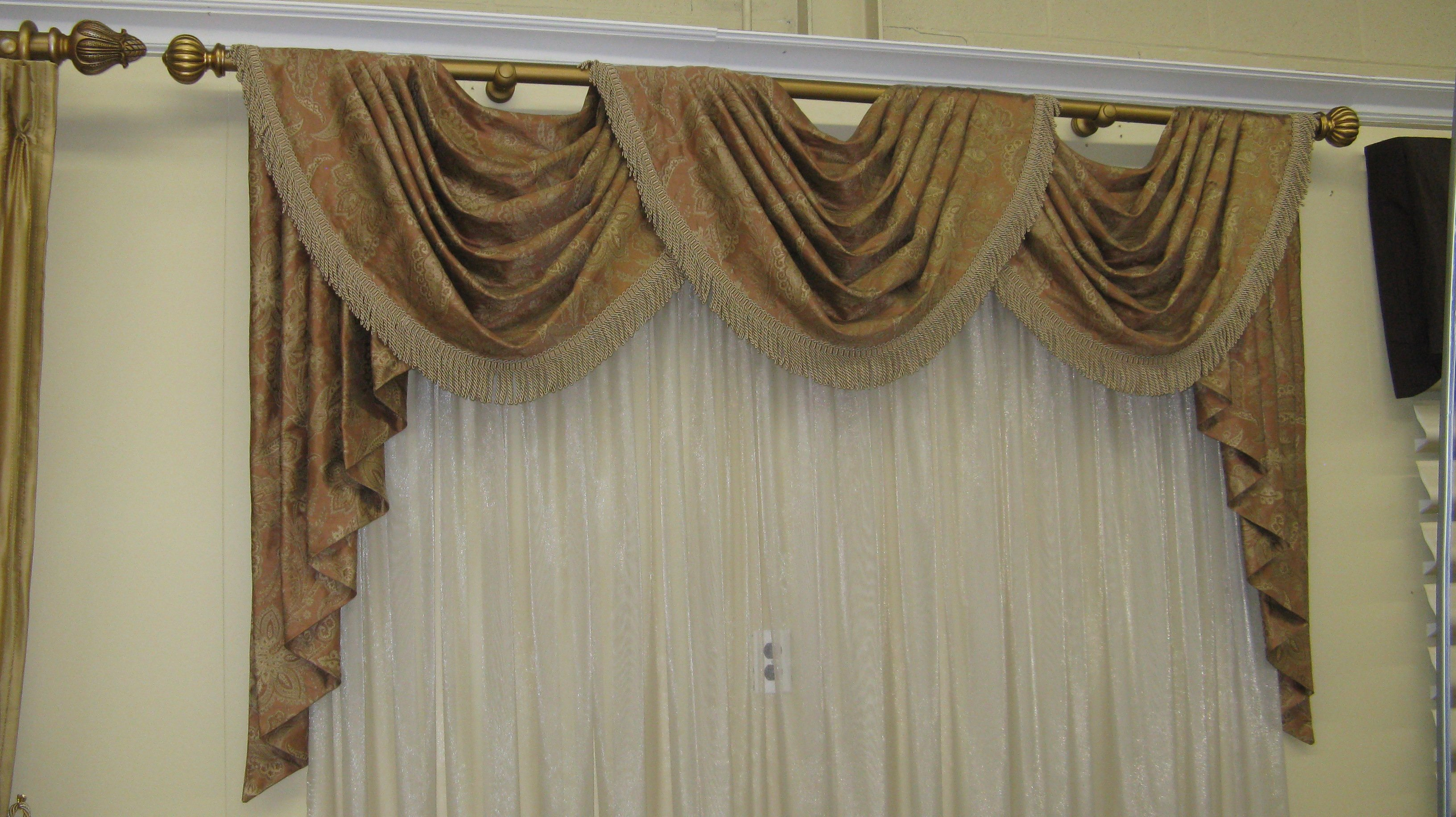 decorative black pelmet itm net swag all tassle colours individual voile curtain drapes swags new valance