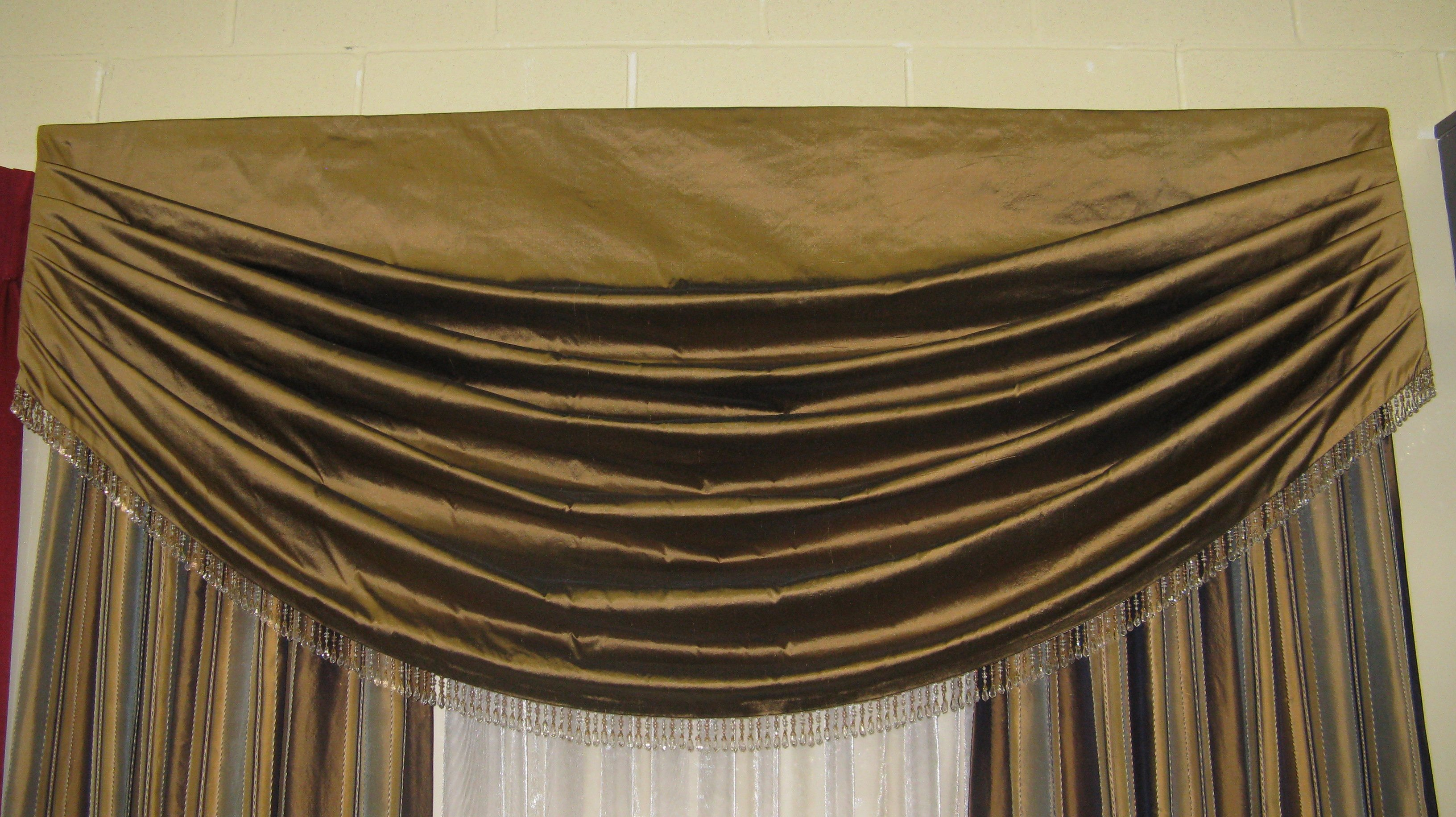 fabric coffee pelmet sheer drapes net blackout blockout mocha swag valance brown curtain curtains itm